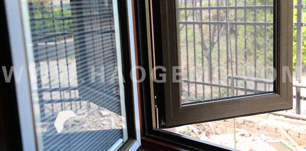 鋁包木防盜紗一體窗